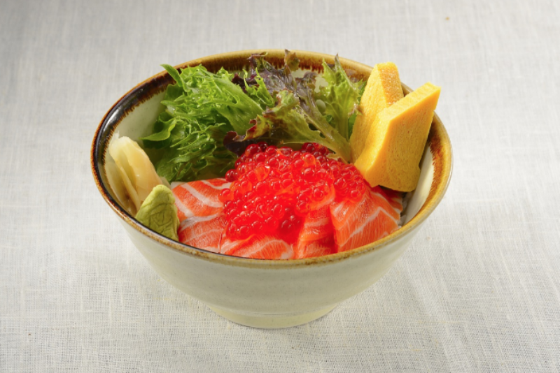 Salmon Ikura Oyako Don