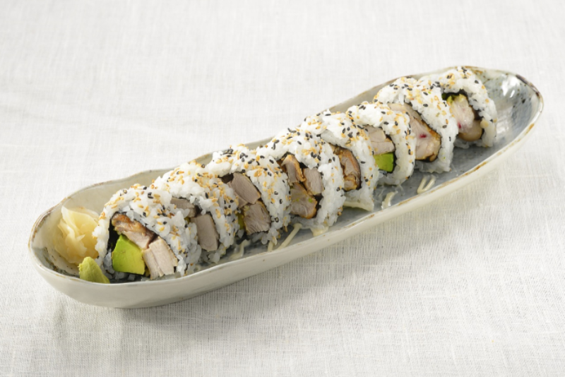 Teriyaki Chicken Avocado Roll