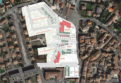 Plan de masse avec zones
