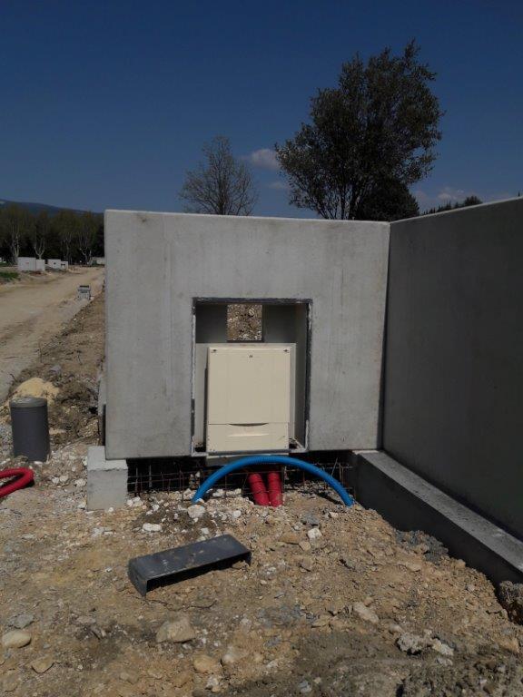 14/02/18 - Matérialisation des entrées par les murs techniques