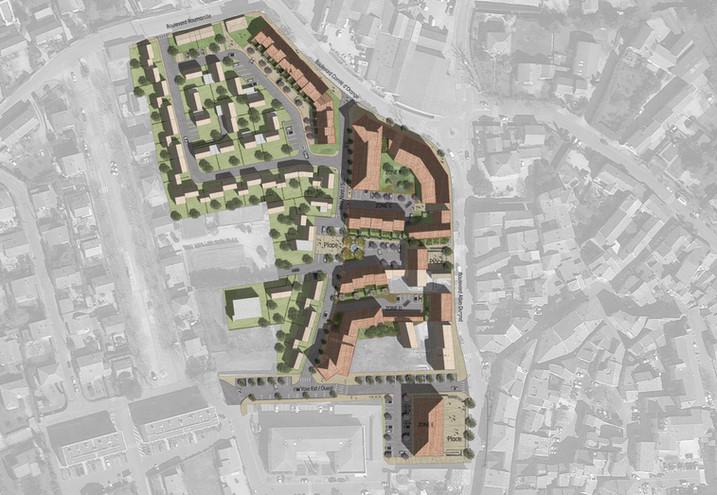Plan de masse coeur de ville de Sarrians