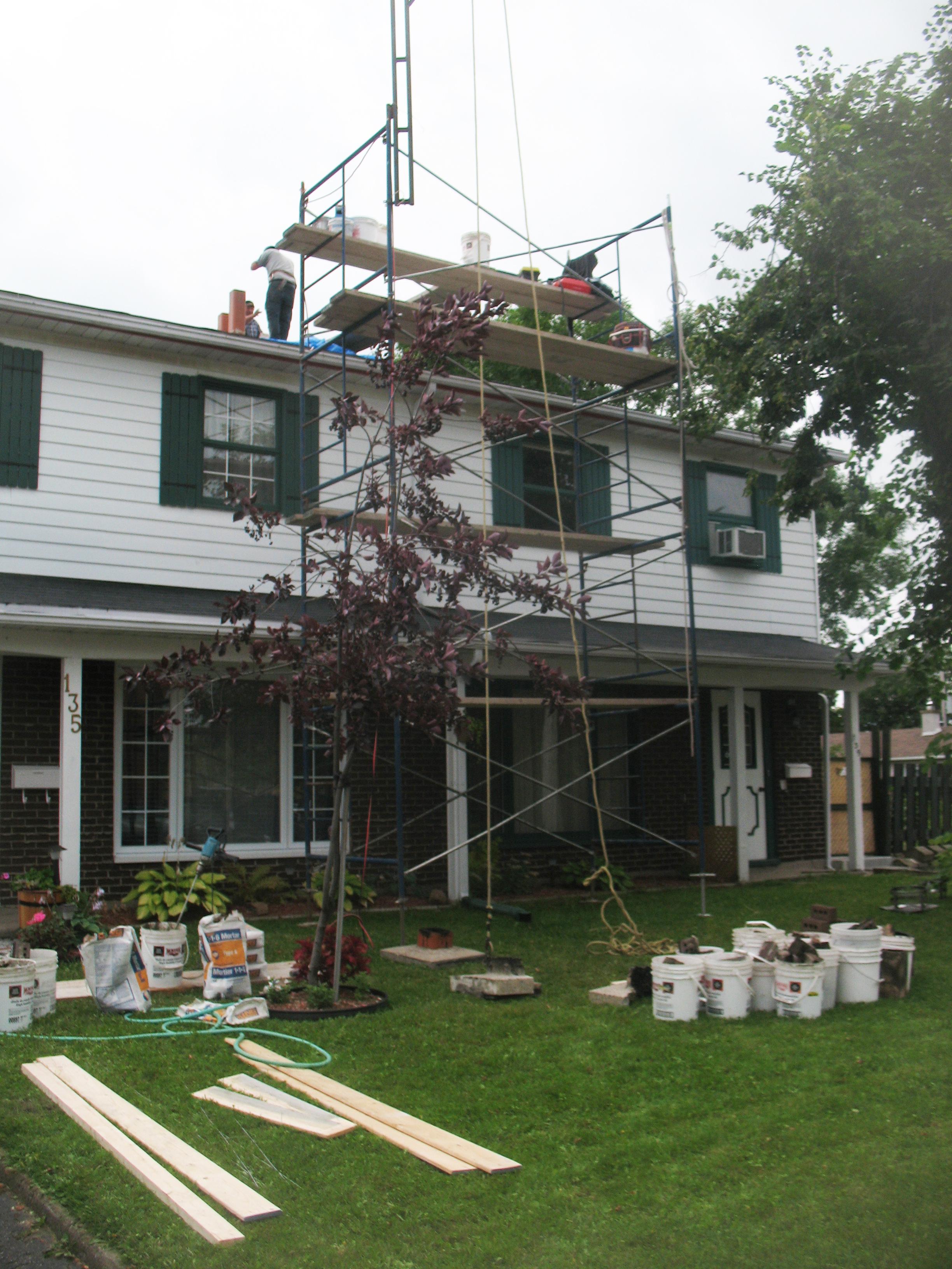 Réparation cheminée