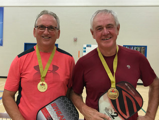 Fredericton Pickleball Club Medal Winners Canada 55+ Games 2018
