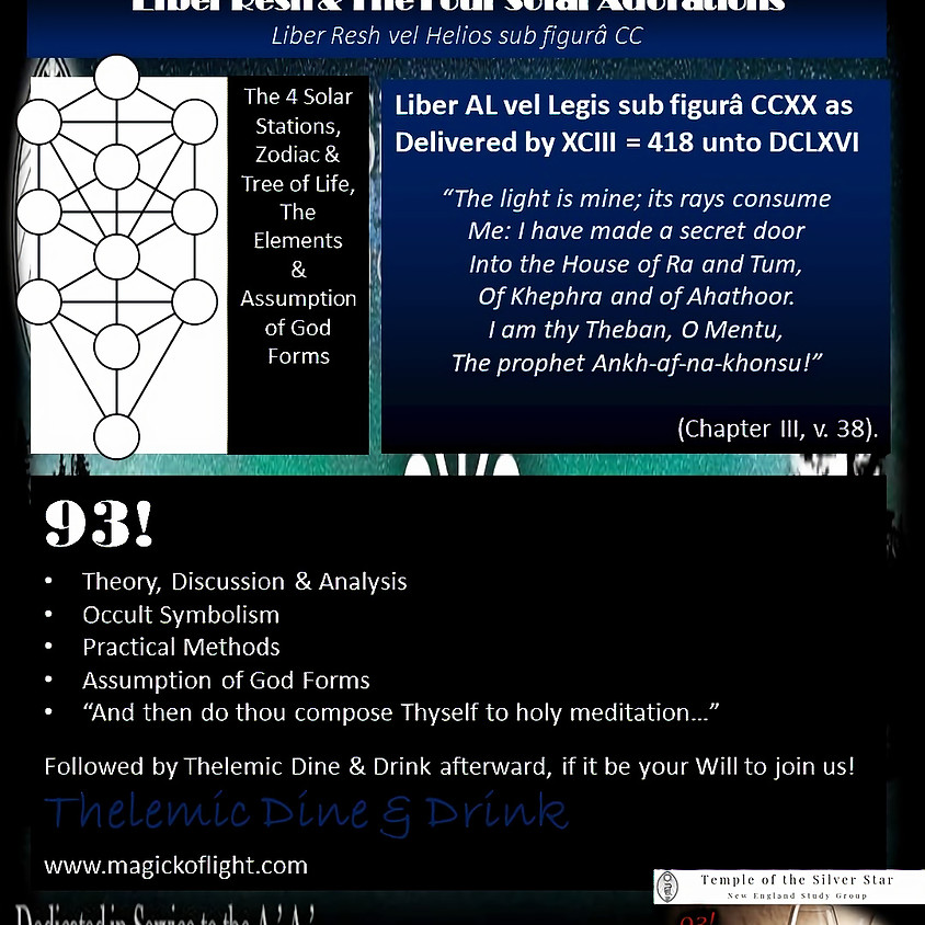 Liber Resh & The Four Solar Adorations