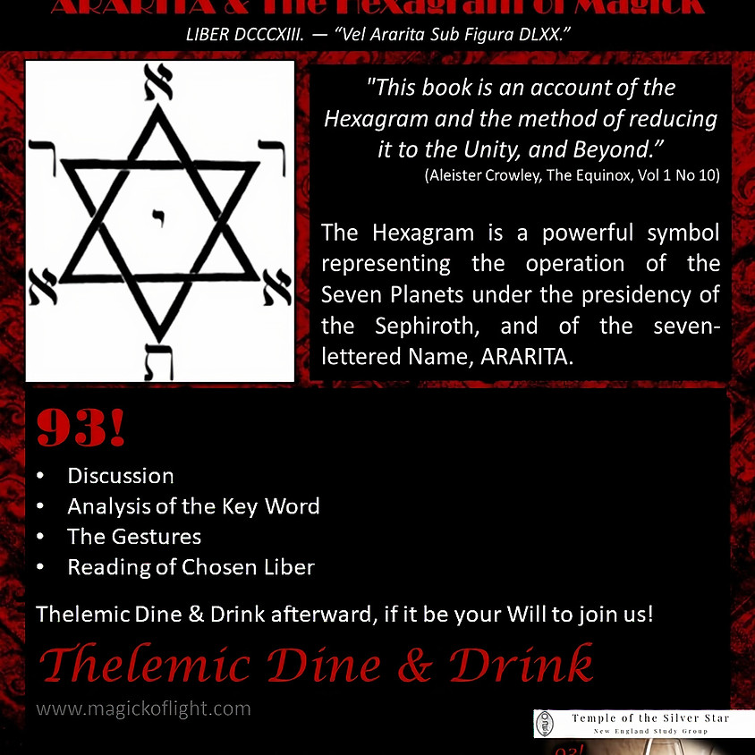 ARARITA & The Hexagram of Magick