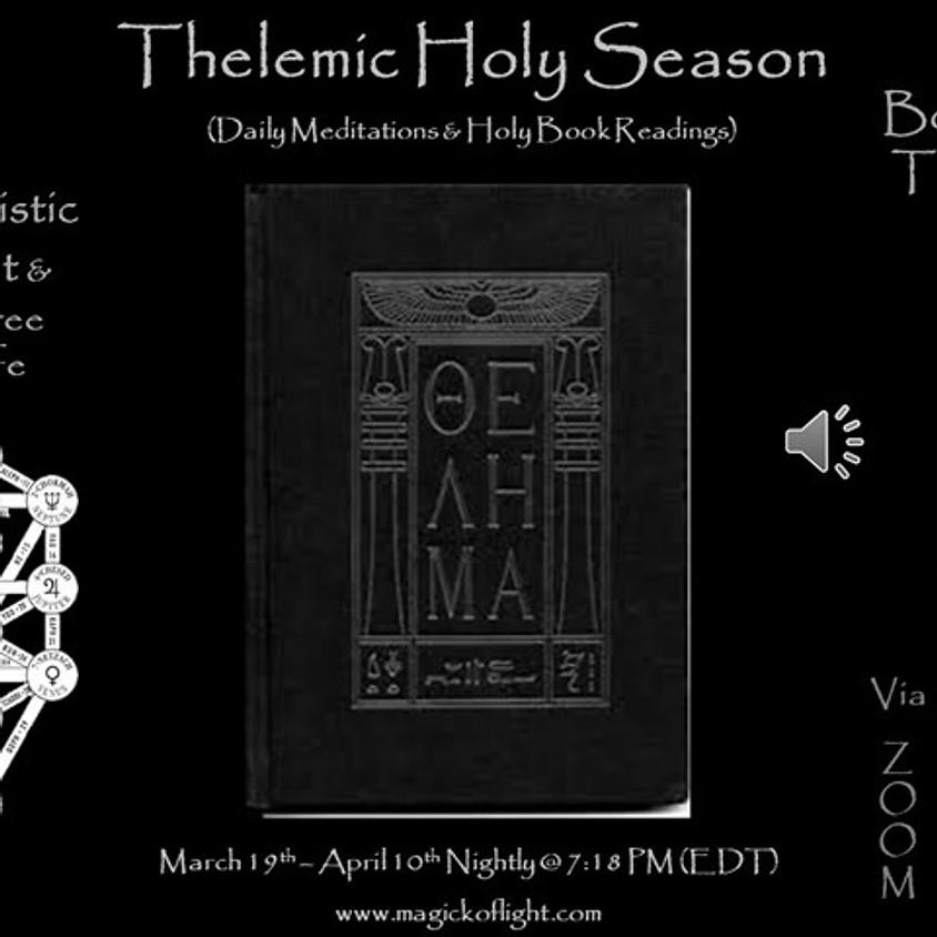 Thelemic Holy Season (Daily Meditations & Holy Book Readings)