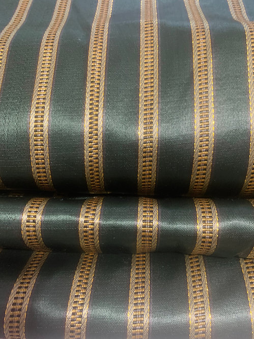 Forest Green Traditional Striped Syrian Fabric