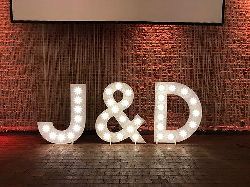 Lichtletters Initialen J&D