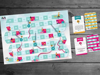 עיצוב לוח משחק סולמות ונחשים