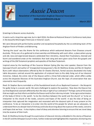AADA March 2017 Newsletter