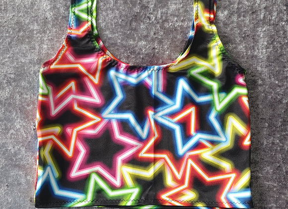 Neon Star Cami Crop Top size 6-8