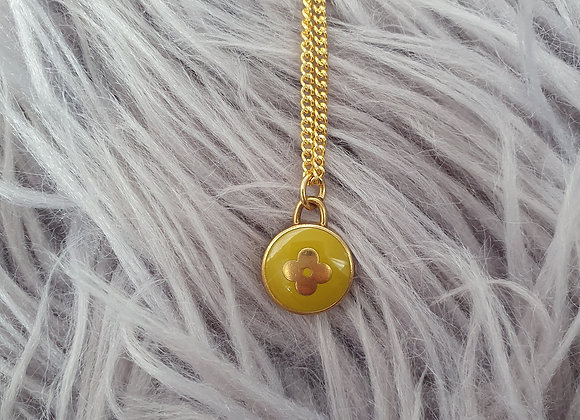 Reworked Louis Vuitton Yellow Necklace