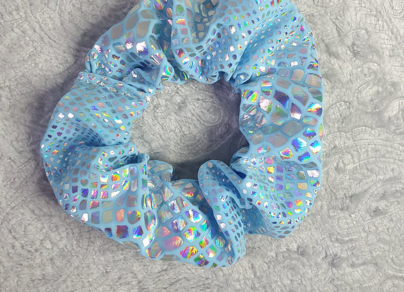 Blue Snakeskin Scrunchie