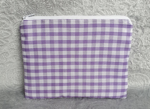 Lilac Gingham Check Pouch