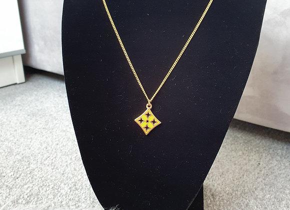 Yellow Diamond Reworked Louis Vuitton Necklace