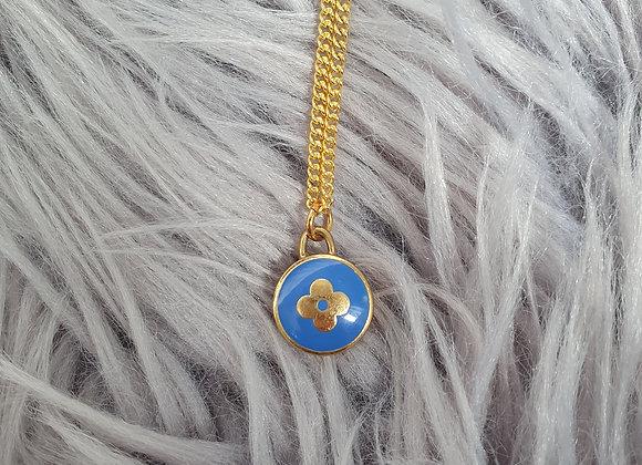 Reworked Louis Vuitton Blue Necklace