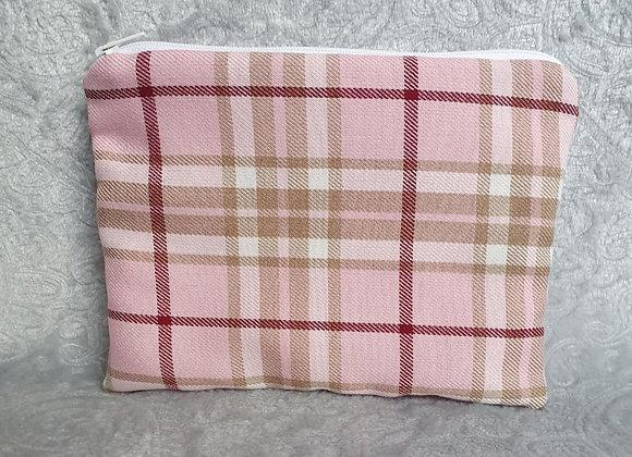 Pink Tartan Pouch