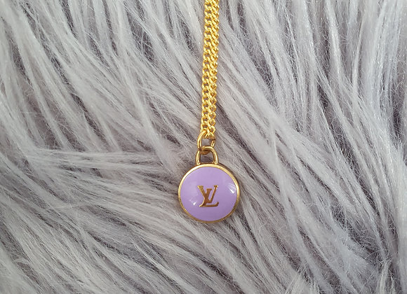 Reworked Louis Vuitton Lilac Necklace
