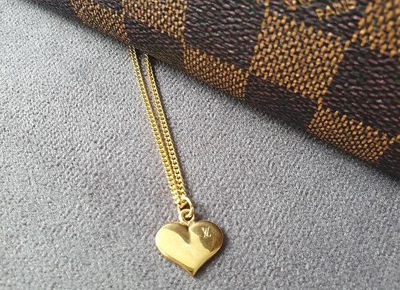 Reworked Louis Vuitton Heart Necklace
