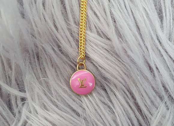 Reworked Louis Vuitton Pink Necklace