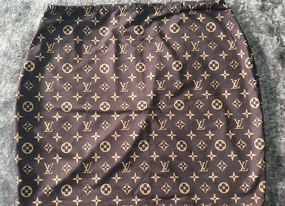 Brown Letter Bodycon Skirt size 12-14