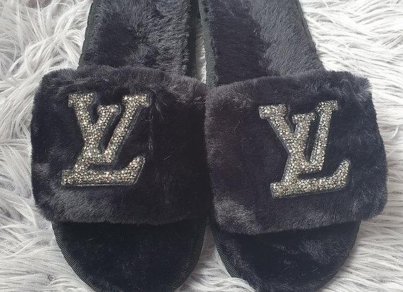 Black L Slippers