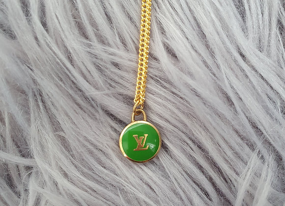 Reworked Louis Vuitton Green Necklace