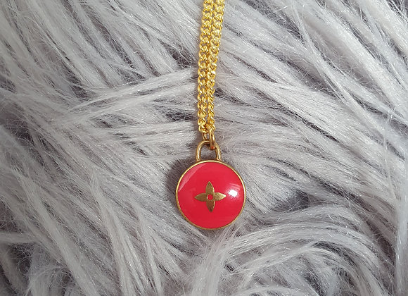 Reworked Louis Vuitton Red Necklace