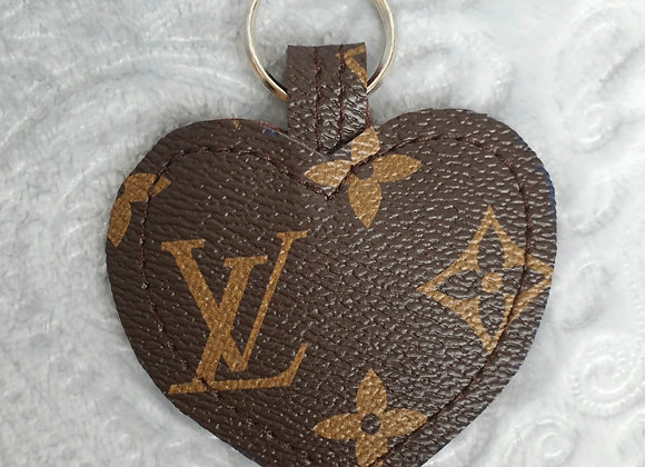 Brown Heart Keyring