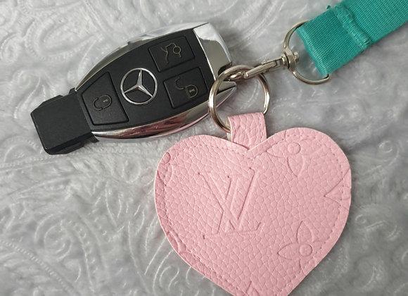 Pink Heart Keyring