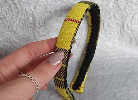 Yellow Tartan Aliceband