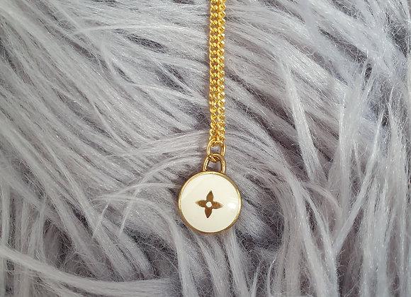 Reworked Louis Vuitton White Necklace