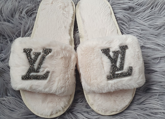 Cream L Slippers