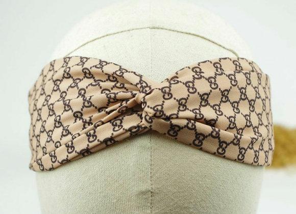Beige G's Twist Headband