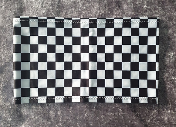 Black and White Check Bandeau Crop Top size 6-8