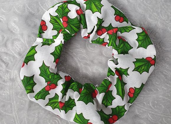 Christmas Holly Scrunchie