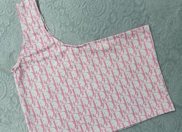 Monogram Prints One Shoulder Crop Top (all colour options)