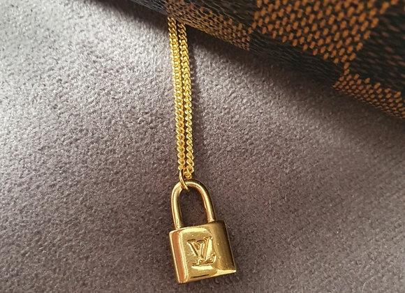Reworked Louis Vuitton Padlock Necklace