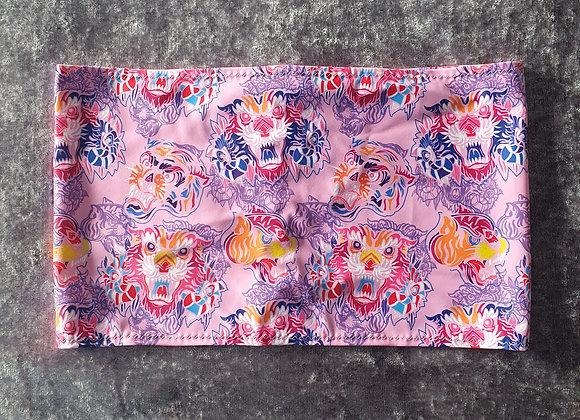 Pink Lion Bandeau Crop Top size 6-8