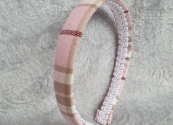 Pink Tartan Aliceband