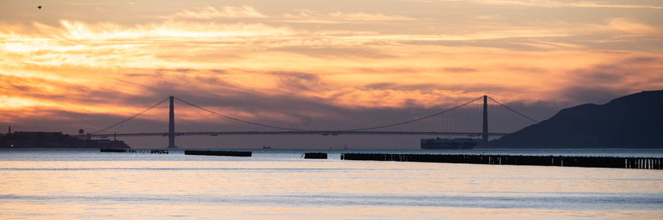 Panoramic Passion - Golden Gate Bridge Sunset