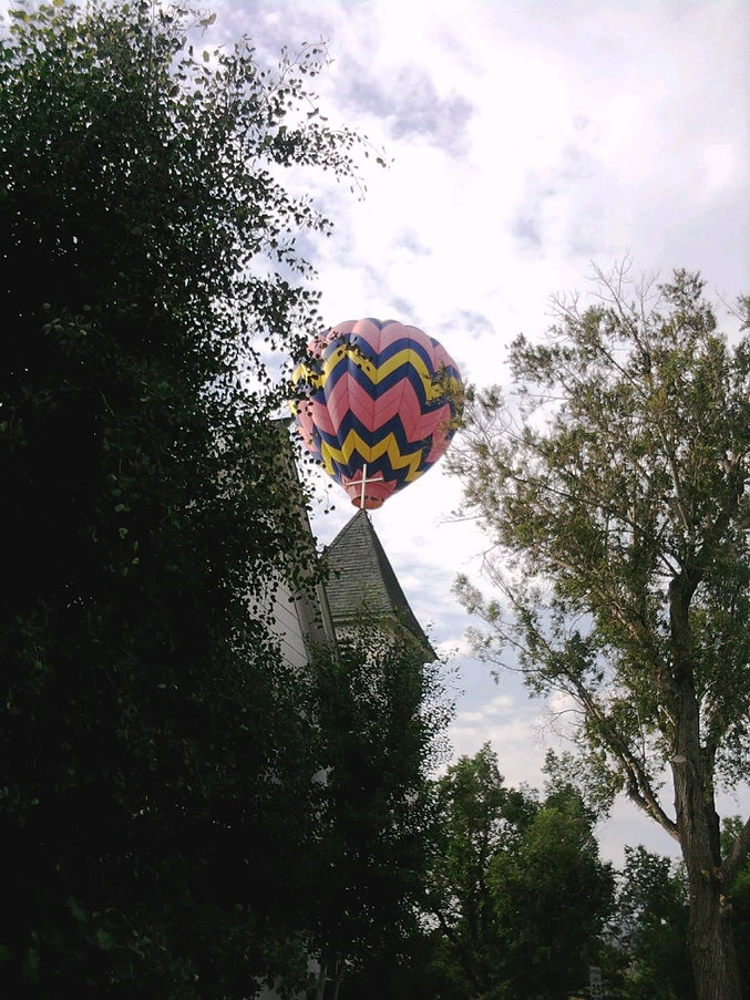 Church with Hot Air Balloon by Teresa Donivan.jpg