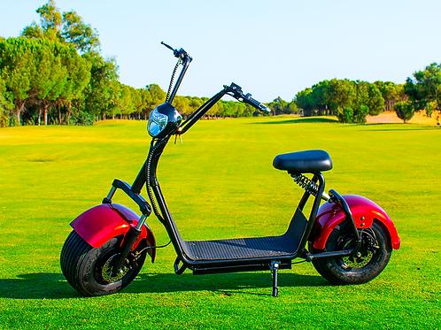 Scooter Eléctrico Chopper 1400W/12aH Rojo/Negro