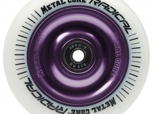 Rueda Metal Core RADICAL 100mm goma blanca núcleo violeta