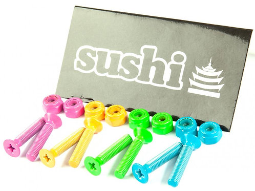Sushi Bolts	Coloured Phillips Bolts (Pk 8)	Pink/Green/Orange/Blue	1  IN