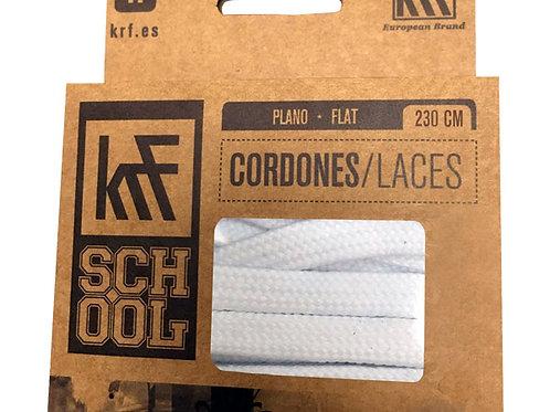 CORDONES SCHOOL BLANCO PLANO 230cm