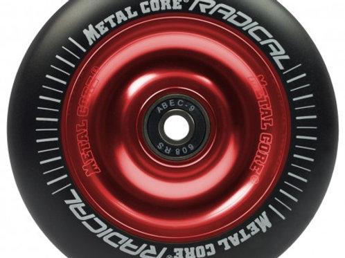 Rueda Metal Core RADICAL 110mm goma negra núcleo rojo