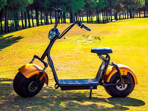 Scooter Eléctrico Chopper 1400W/12aH Dorado/Negro