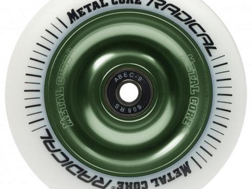 Rueda Metal Core RADICAL 100mm goma blanca núcleo verde