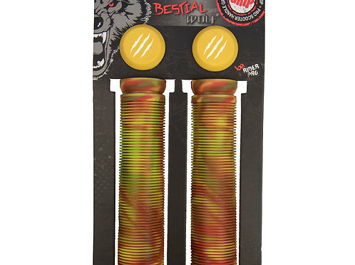 Grips Flags Bestial Wolf Amarillo/Marron